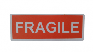 LOT D'ÉTIQUETTES « FRAGILE »
