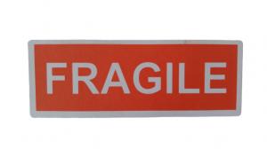 LOT D'ÉTIQUETTES «FRAGILE»